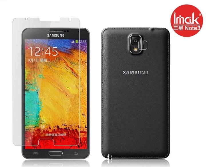 三星Note 3 N9000 手機貼imak艾美克高透明螢幕貼(附攝像頭貼)Samsung N9005 N900A N9002手機屏幕保護貼