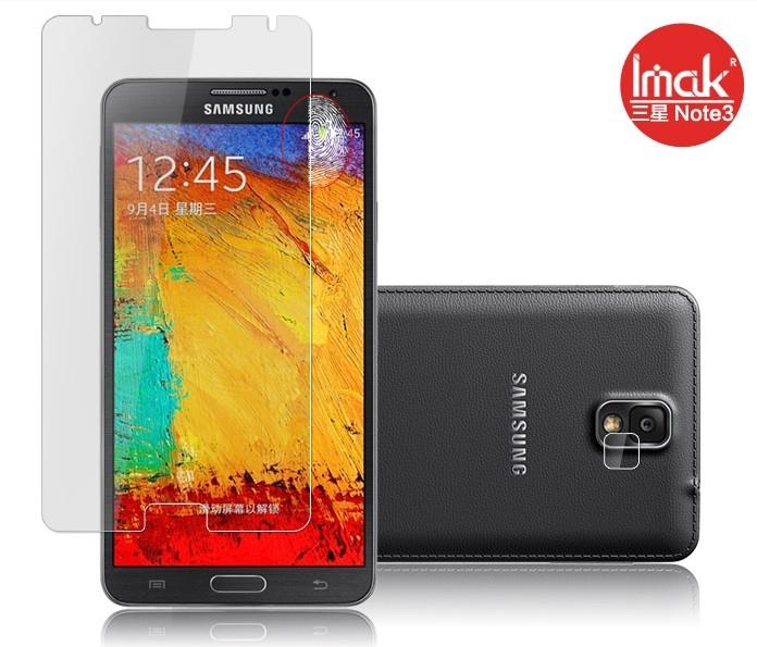 三星Note 3 N900 螢幕貼 imak艾美克高清防指紋貼膜 N9005 N900A N9002磨砂保護貼(含高透攝像頭貼)