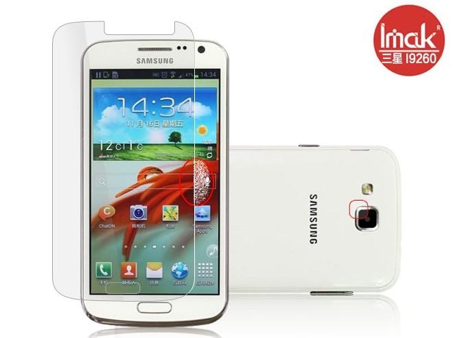 三星i9260 Galaxy Premier 螢幕貼 imak艾美克高清防指紋貼膜 Samsungi9260 磨砂保護貼(含高透攝像頭貼)保護膜