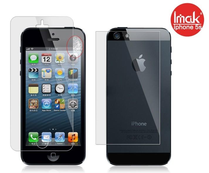 蘋果iPhone5/5S 螢幕貼 imak艾美克高清防指紋貼膜iPhone5 手機貼iPhone5S磨砂保護貼(含高透攝像頭貼)
