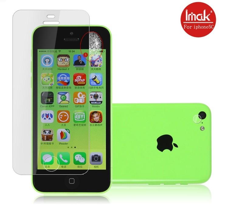 蘋果iPhone5C 螢幕貼 imak艾美克高清防指紋貼膜 APPLE 5C 高透手機貼磨砂保護貼(含高透攝像頭貼)