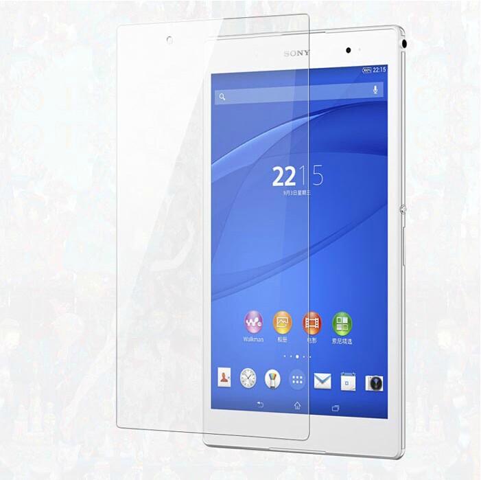 SONY Xperia Z3 Tablet Compact平板鋼化膜 9H 0.4mm直邊 耐刮防爆玻璃膜 索尼SGP 621 防爆裂高清貼膜 防污保護貼