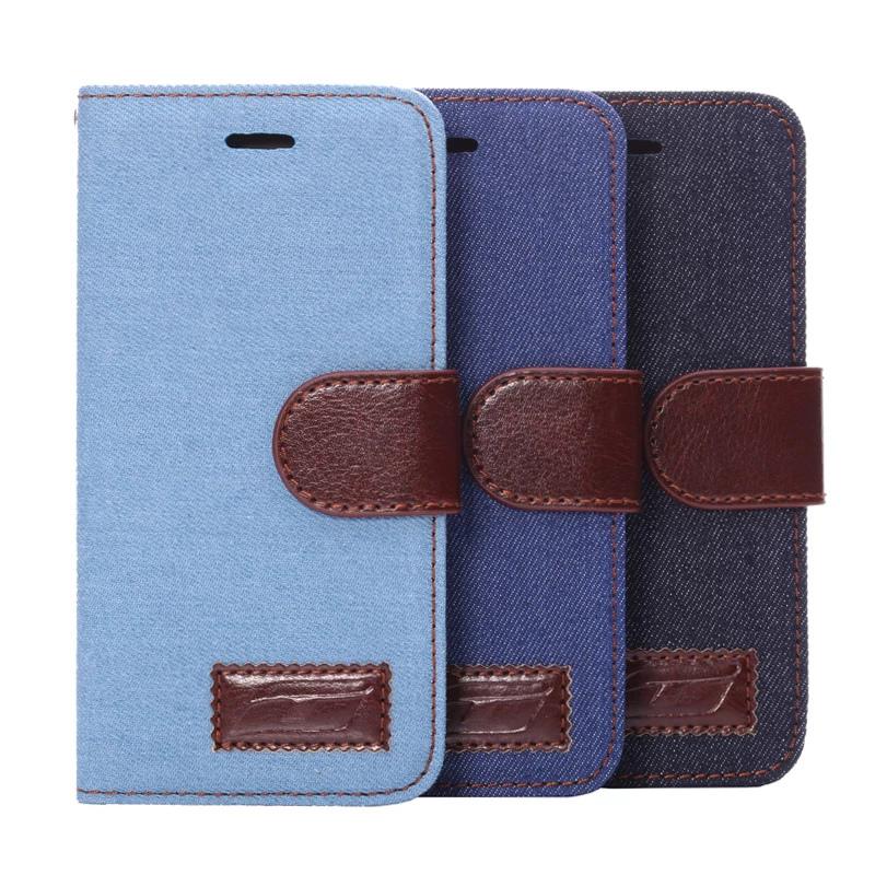 蘋果 iPhone 6 plus 5.5吋 保護套 牛仔布紋支架插卡皮套  Apple iphone6 plus側翻手機保護殼【預購】