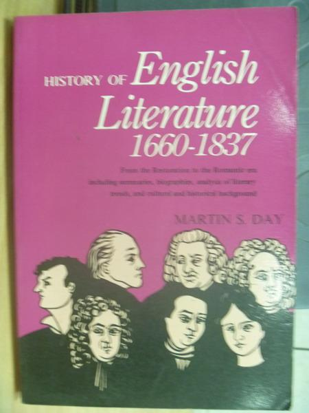 【書寶二手書T9/原文小說_MOI】History of English Literature1660-1837
