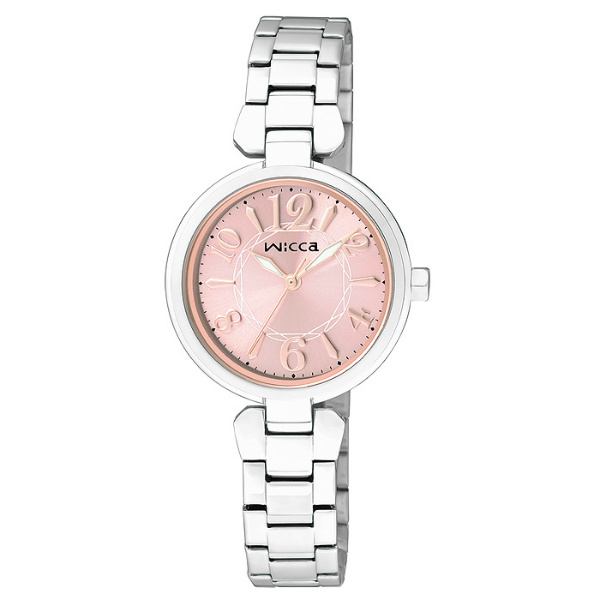 CITIZEN星辰WICCA(BG3-813-91)公主典雅時尚腕錶/粉紅面26mm