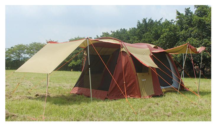 野樂露營達人鋁合金帳蓬,四門可全開每面都有屋簷可展開通風遮陽效果最佳 ARC-643   野樂 Camping Ace