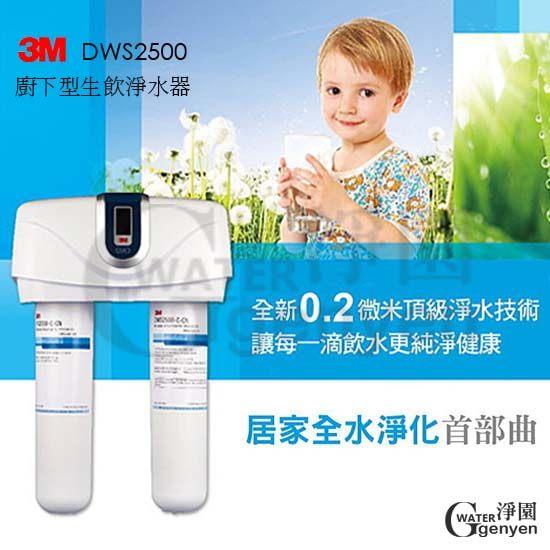 [淨園] 3M DWS2500生飲淨水器 (龍頭發光設計●全省免費安裝●限時加贈DWS2500替換濾芯一組)