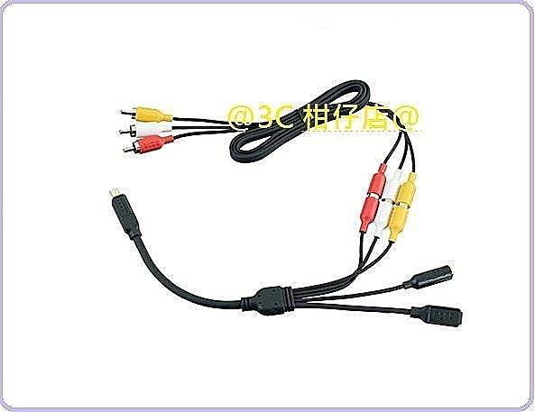 GoPro ANCBL-301 USB轉AV端子外接麥克風線組 公司貨 Combo Cable for HERO3 HERO3+ HERO4 麥克風線 USB轉AV端子