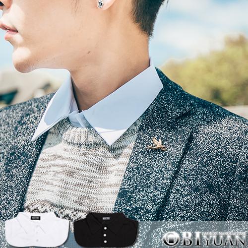 17吋假領口襯衫【ZT5278】OBI YUAN三排扣襯衫式內搭假兩件上衣共2色