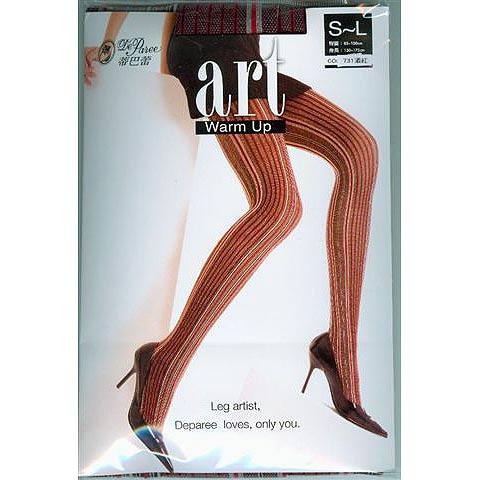 [漫朵拉情趣用品]【蒂巴蕾】ART WARM UP 彈性褲襪 - 巴黎條紋 DM-91801