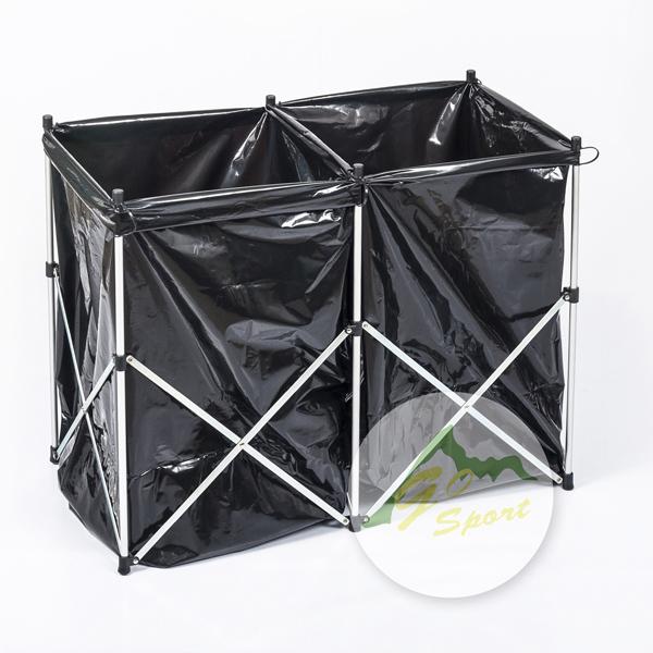 【露營趣】中和 GO SPORT 45272 鐵製分類垃圾架 摺疊垃圾架 垃圾桶 資源回收桶