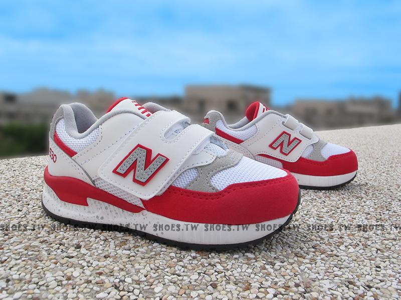 Shoestw【KV530RGP】NEW BALANCE 530 復古慢跑鞋 中童鞋 運動鞋 白紅 潑墨底
