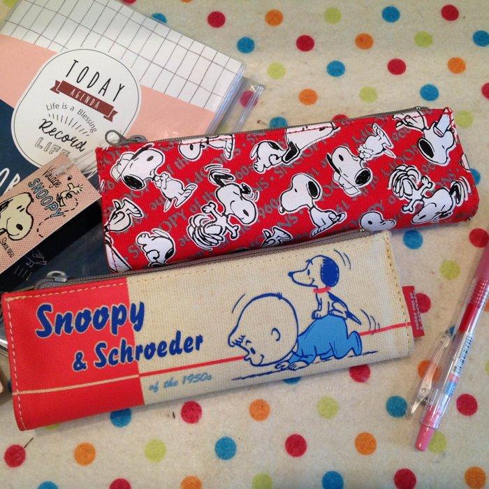 =優生活=【日貨特價】日本進口史努比Snoopy&Schroeder雙層雙面拉鍊筆袋 化妝包 收納包 繪畫筆袋 文件包