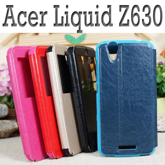 【冰河時代】Acer Liquid Z630 T03/Z630S T04 視窗側掀皮套/側翻保護套/側開皮套/軟殼/支架斜立展示/手拿包