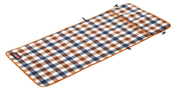 【鄉野情戶外專業】 Coleman |美國| 棕格紋刷毛椅套/導演椅專用椅套 可當野餐墊/CM-26533M000