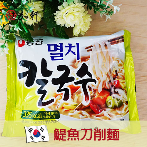 《加軒》韓國農心小魚乾刀削麵