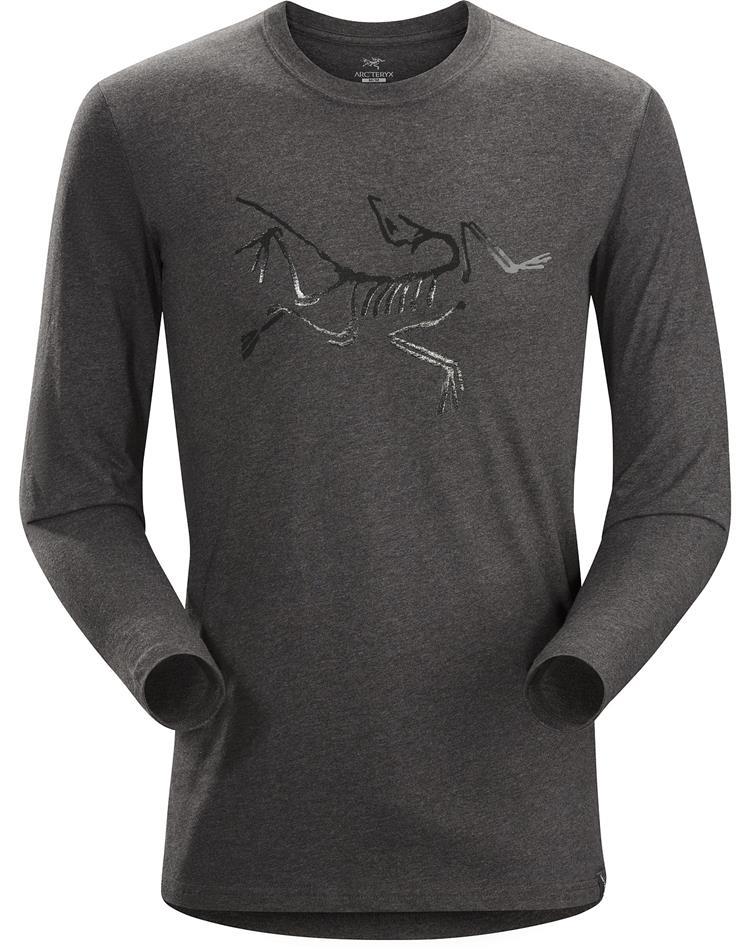Arcteryx 始祖鳥 Archaeopteryx T-Shirt 男款 圓領長袖棉T 長袖T恤 18176石南深灰 台北山水