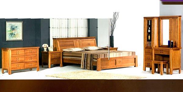 【尚品家具】662-11 檜木全實木6尺床頭箱型床台床組+7尺衣櫥