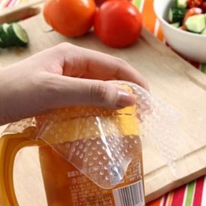 美麗大街【BF531E17E825】方形可重複使用矽膠食品級氣泡保鮮膜可伸縮吸附碗蓋杯蓋(opp袋+彩卡)