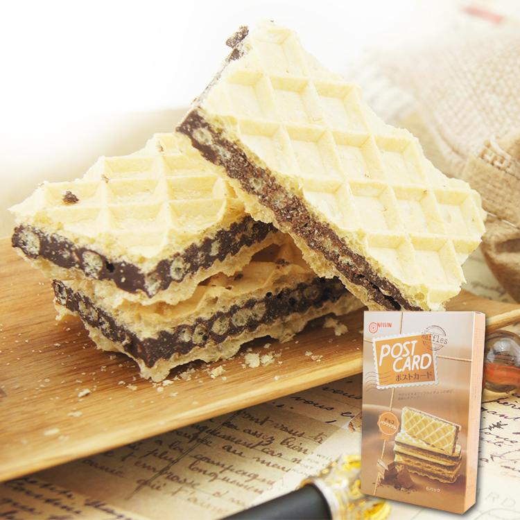 艾莉和-日清巧克力味脆米夾心餅乾