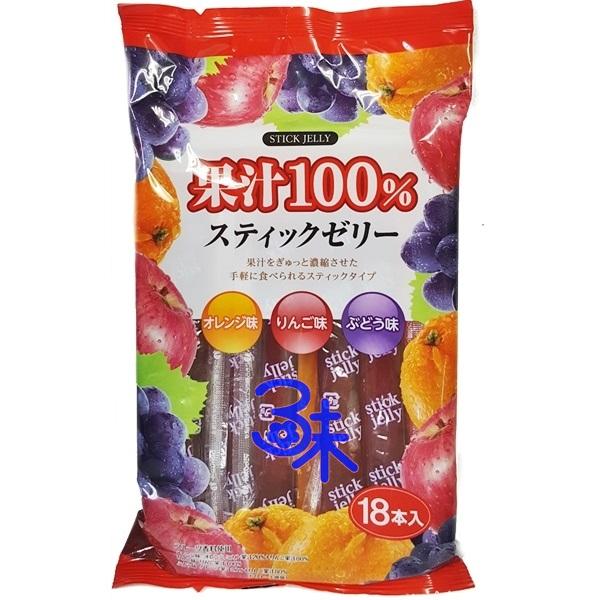 (日本) RIBON 立夢水果果凍條 1包 324 公克(18入)  特價 96 元【 4903316614243】(立夢果汁100% 三味綜合果凍棒)