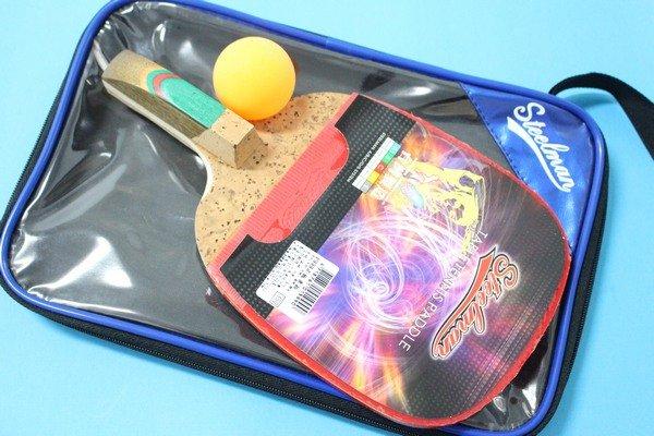鐵人桌球拍 P999桌拍 乒乓拍 乒乓球拍(附球.正手板)MIT製/一支入{定350}