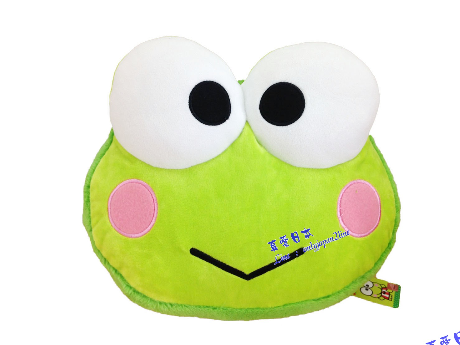【真愛日本】16071500003馬卡龍頭型抱枕-大眼娃   三麗鷗家族  Keroppi 大眼蛙 皮皮蛙 娃娃 抱枕  靠枕