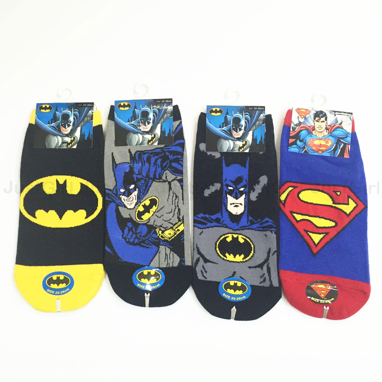 蝙蝠俠 超人 成人襪子 船型襪 短襪 踝襪 造型襪 22-26cm 39元 居家 正版日本授權 * JustGirl *
