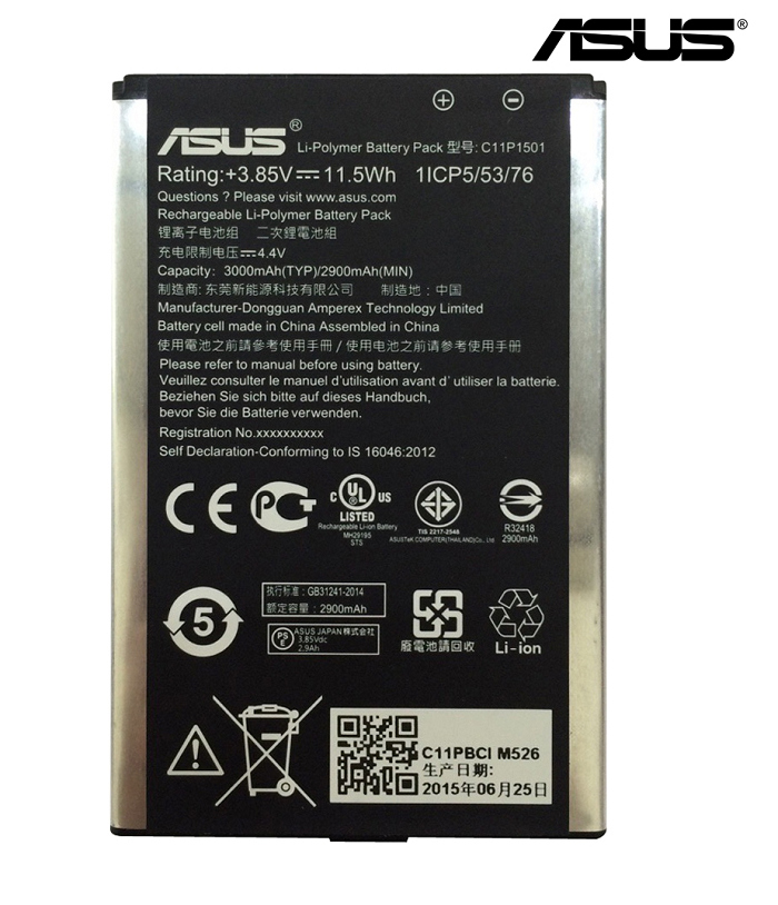 ASUS 華碩 原廠公司貨 5.5吋 ZenFone2 Laser ZE550KL/ZE551KL 原廠電池 C11P1501 3000mAh/TIS購物館