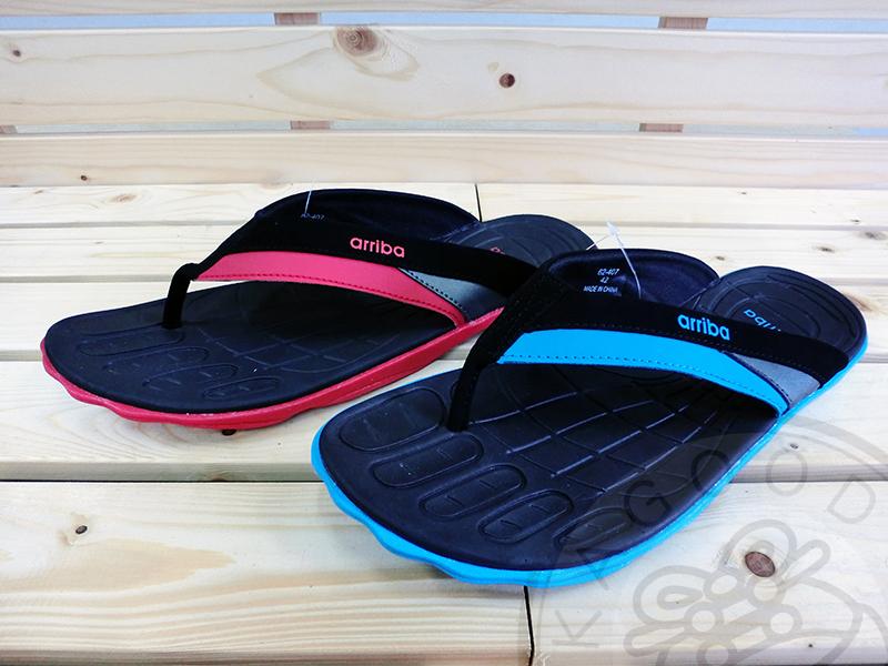Arriba 62-407 夾腳拖 拖鞋 紅/藍色款 男鞋