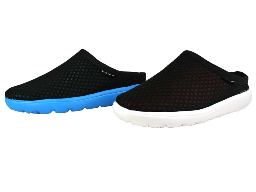 Arriba 62-425 休閒鞋 懶人鞋 便鞋 帆布鞋 黑紅/ 黑藍色款 男鞋