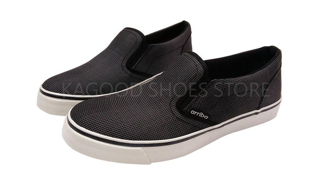 Arriba AB-6609 懶人鞋 休閒鞋 帆布鞋 黑色款 男鞋