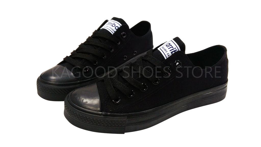Arriba AB6804 休閒鞋 便鞋 帆布鞋 黑色款 情侶鞋款