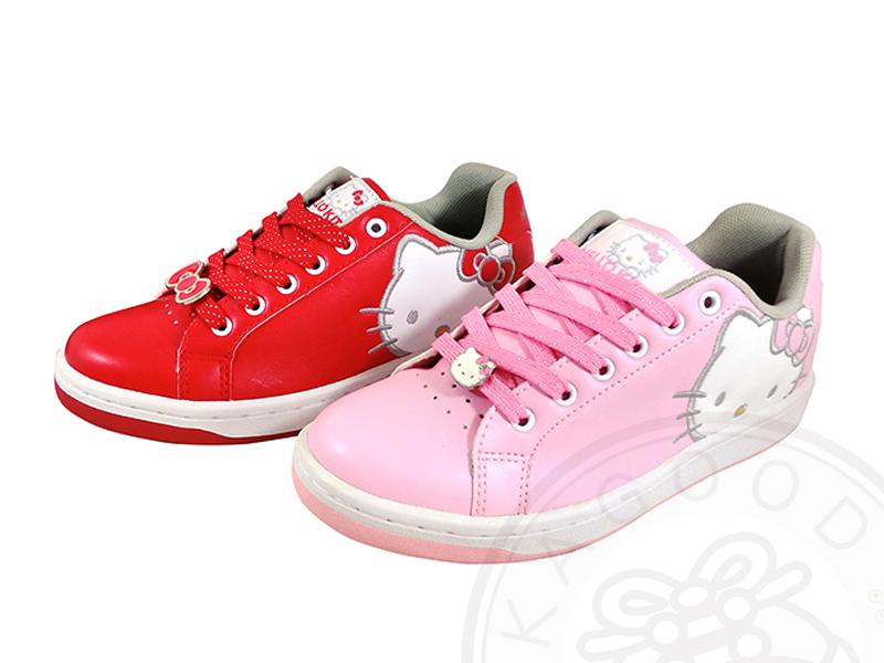 HELLO KITTY 凱蒂貓 910613 素面大臉 基本款 休閒鞋 板鞋 古銅 香檳芋 粉 紅色款