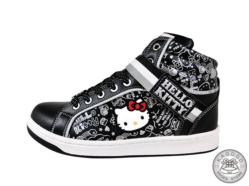 HELLO KITTY 凱蒂貓 913023 塗鴉風 休閒鞋 板鞋 運動鞋 黑色款