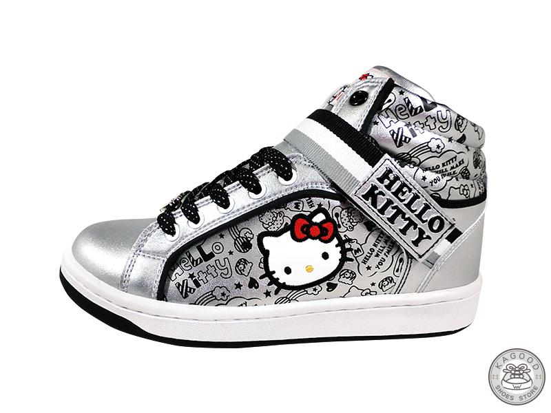 HELLO KITTY 凱蒂貓 913023 塗鴉風 休閒鞋 板鞋 運動鞋 銀色款