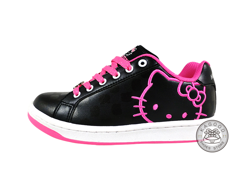 HELLO KITTY 凱蒂貓 914056 格紋風 休閒鞋 板鞋 黑桃色款