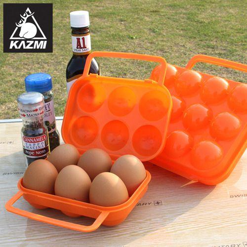 KAZMI 露營蛋盒/ 6入攜帶式雞蛋盒 K5T3K004