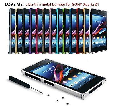 ☆索尼Xperia Z1 LOVE MEI 金屬螺絲海馬扣邊框 Z1 l93h c6902 手機邊框 金屬邊框【清倉】