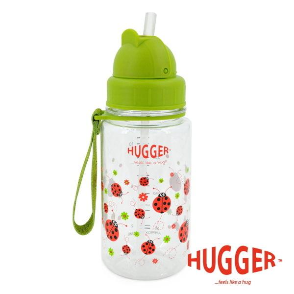 【英國 Hugger】Tritan 彈跳吸管水壺 - 小飄蟲
