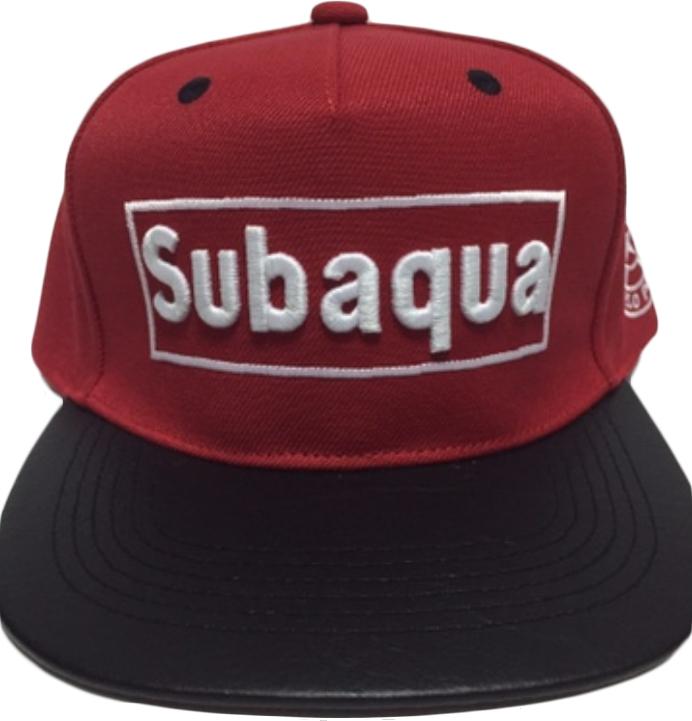 subaqua 立體 電繡 棒球帽 平板帽  紅