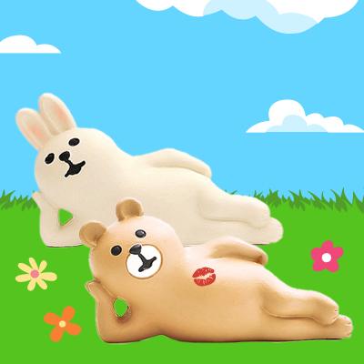 兔兔與熊熊的野餐約會日-慵懶側躺 ◤apmLife生活雜貨◢