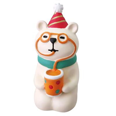 日本Decole聖誕擺飾 耶誕團聚歡樂派對-北極熊的柳橙果汁 (聖誕節Concombre公仔) ◤apmLife生活雜貨◢