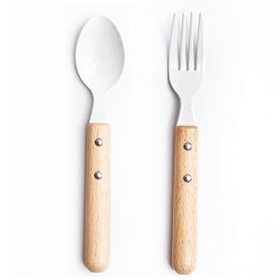 天然原木瑩白琺瑯私房餐具 (小) (湯匙) (叉子) ◤apmLife生活雜貨◢