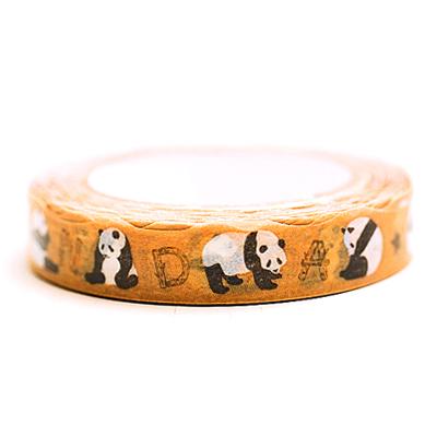 慵懶貓熊沉睡竹林紙膠帶 ◤apmLife生活雜貨◢
