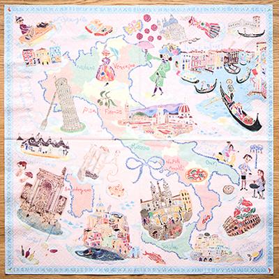 歐洲教堂悠遊河岸桌巾紙 ◤apmLife生活雜貨◢
