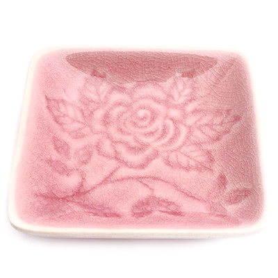 花果香氛雅致玫瑰方形餐盤 ◤apmLife生活雜貨◢