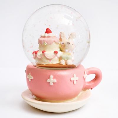 繽紛雪花白色耶誕水晶球(小) ◤apmLife生活雜貨◢