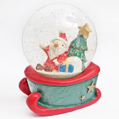繽紛雪花白色耶誕水晶球(大) ◤apmLife生活雜貨◢