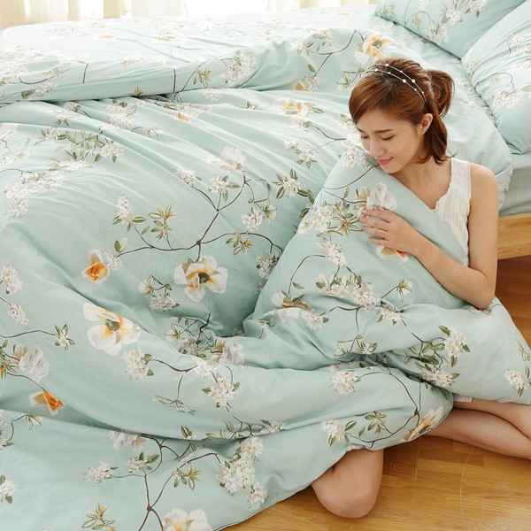 [SN]#B151#寬幅100%天然極緻純棉6x6.2尺雙人加大床包被套四件組*台灣製/SGS檢驗/床單/被單(免運)